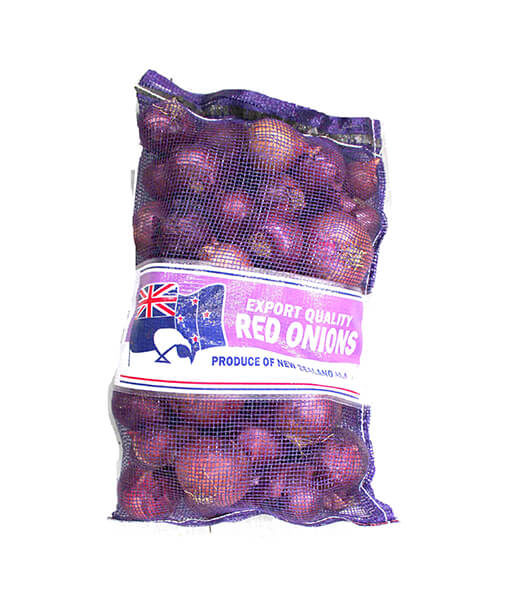 fresh red onion bag