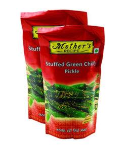 mothers stuffed green chilli