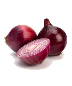 Loose red onions