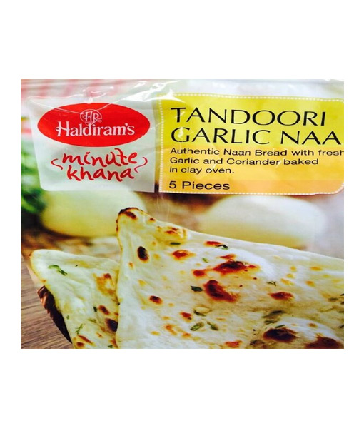 Haldi Tandoori Garlic Naan 5pc